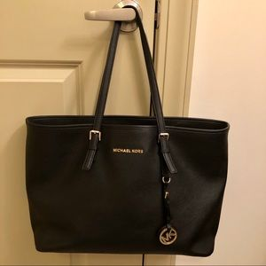 Michael Kors Black Jet Set Tote Purse